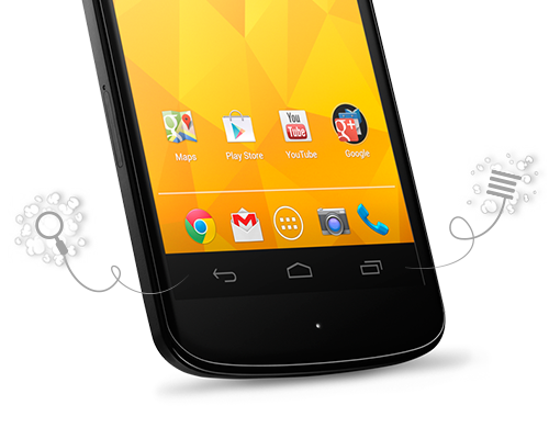 Nexus 4 is an instance of Google's new approach to hardware buttons.