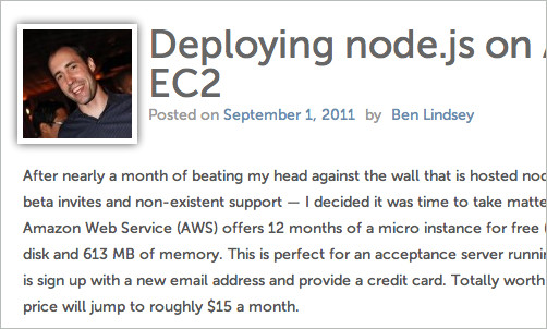 Deploying node.js on Amazon EC2
