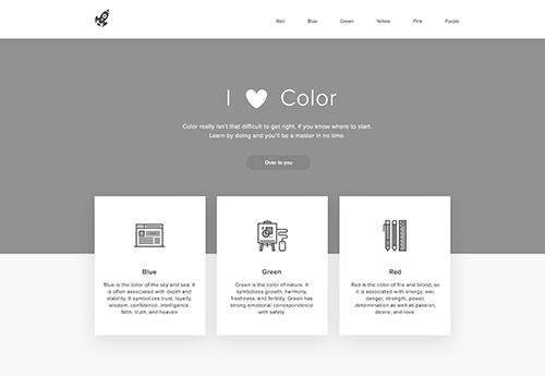 Grayscale image of website layout