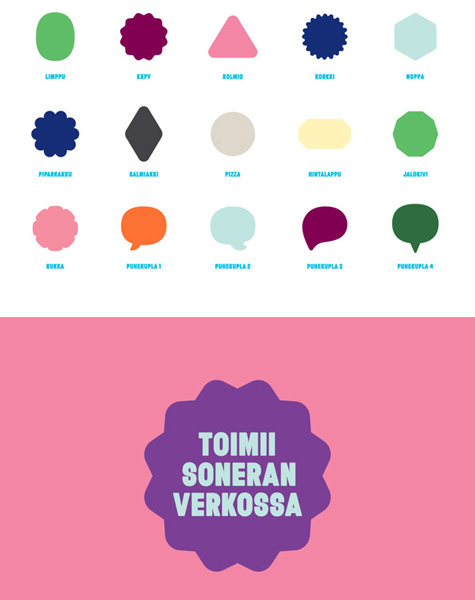 Werklig's Tele Finland case study contains a wealth of iconography and type exploration.
