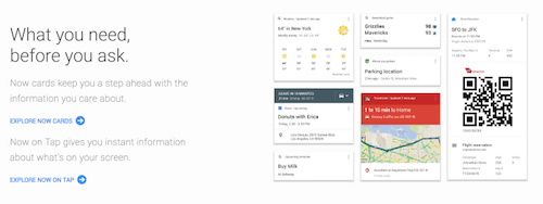 Google Now overview