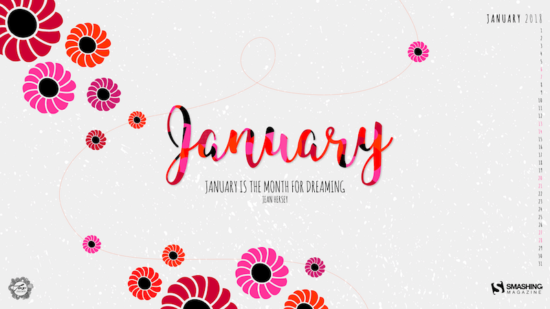 Cute January Calendar Wallpaper : Graphics — smashing magazine