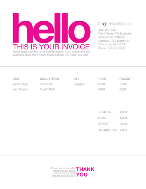 Good Bgg Design Invoice  Graphic Design Invoices