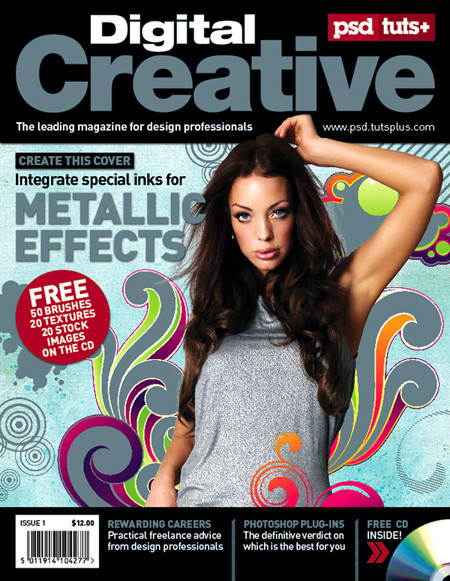 Magazine Cover with Spot Metallic