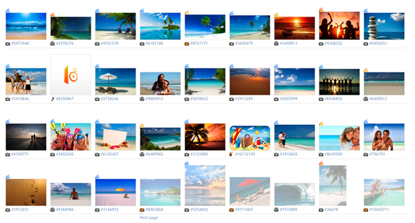Search results for 'beach' on iStockPhoto.com