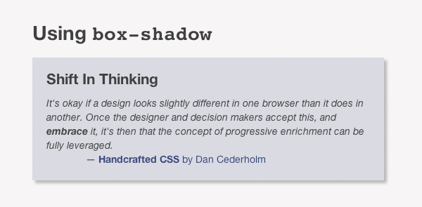 Webkit screenshot showing the box-shadow working