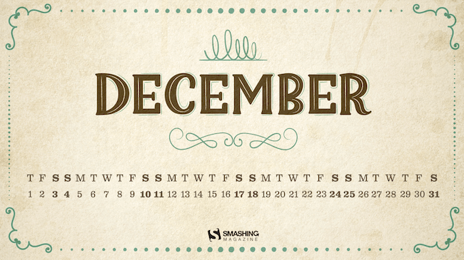 Christmas Wallpaper — Vintage December