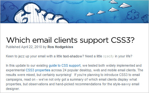 Which email clients support CSS3?
