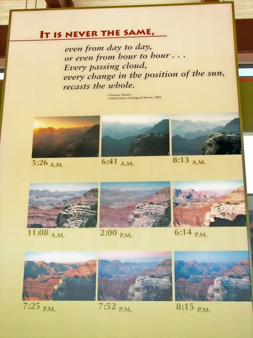Wayfinding and Typographic Signs - changing-light-of-grand-canyon