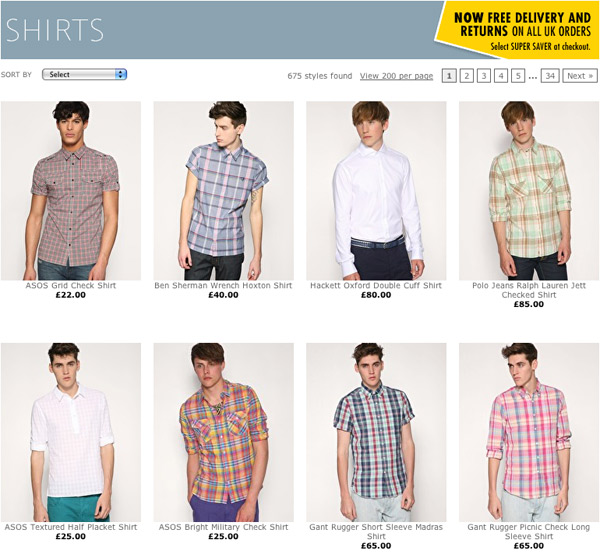 Men modeling shirts