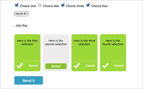 Pretty checkboxes with jQuery