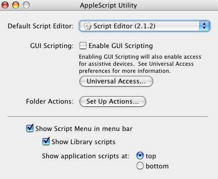 AppleScript Utility screenshot