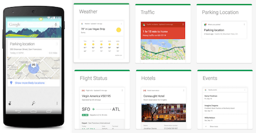 Google Now anticipatory design examples