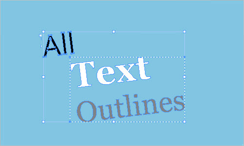 Convert All Text to Outlines