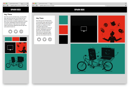 Style Prototype for the first Sparkbox site.