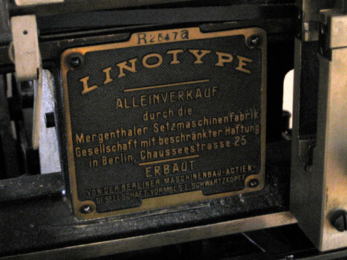 A look at a linotype machine.