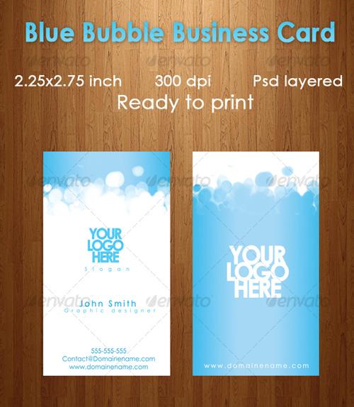 Business card design starter kit showcase tutorials templates blue bubbleg reheart Gallery