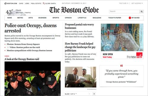 BostonGlobe.com home page