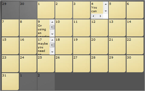 Elastic Calendar Styling with CSS