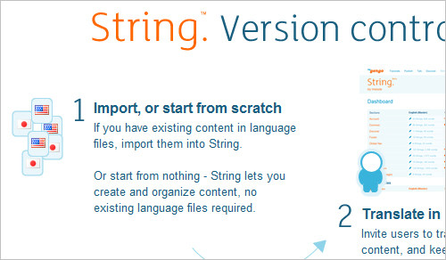 String: create a multi-language website or app