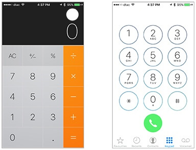 Most users do not even notice that the keypads of the calculator and phone are inversions of each other.