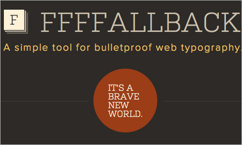 Bulletproof Font Stacks