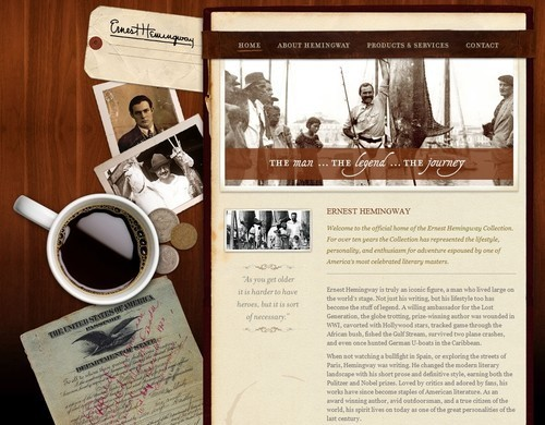 Retro and Vintage Designs - The Ernest Hemingway Collection