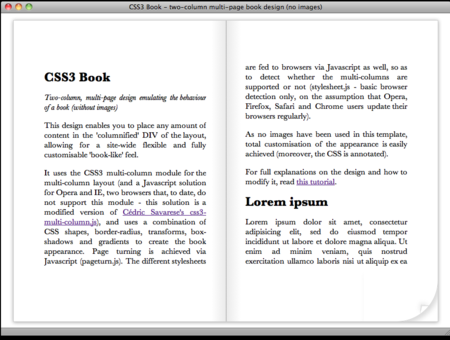 CSS3 Designs For Free Download - css3-book