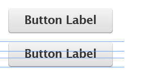 Badly typeset button labels