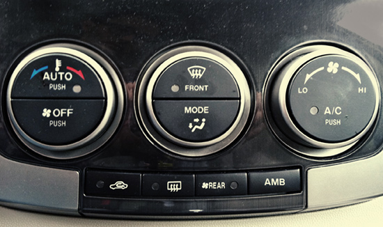 My Car's A/C Controls