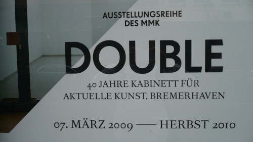 Wayfinding and Typographic Signs - double-exhibition