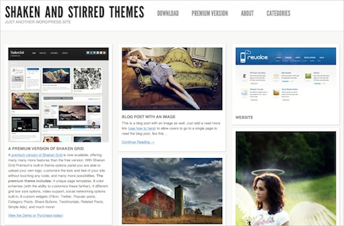 Shaken Grid Free WP Theme