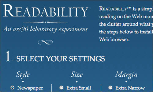 Readability - An Arc90 Lab Experiment