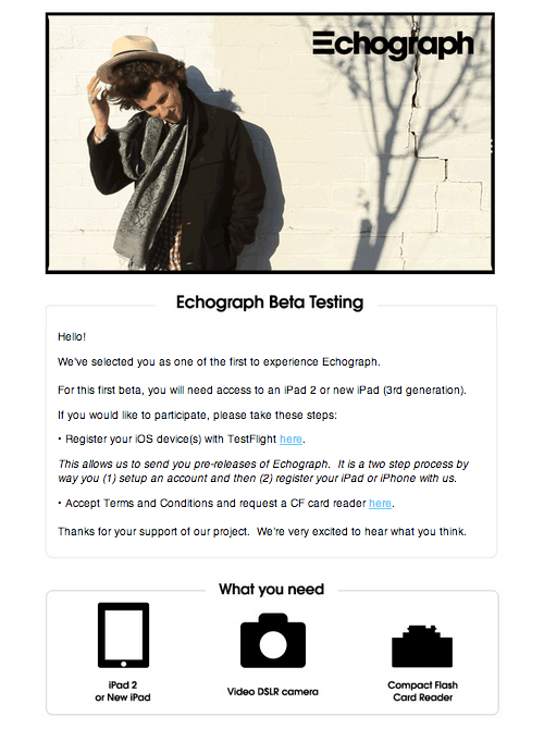 Beta Invite: Echograph