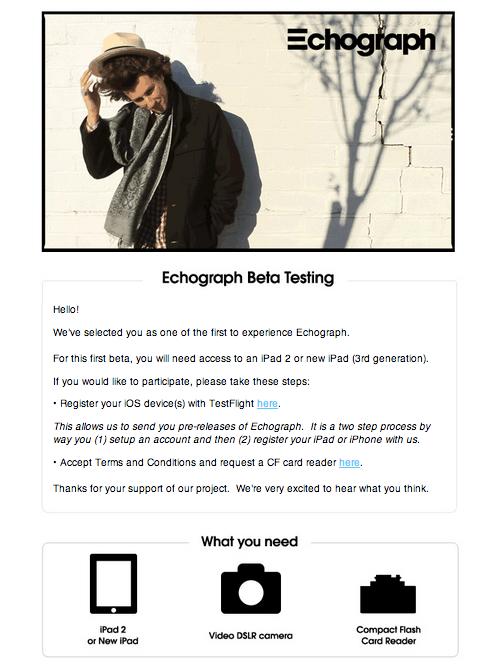 Beta Invite: Echograph