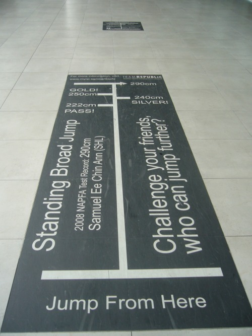 Wayfinding and Typographic Signs - standing-broad-jump