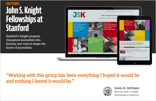 Mule Design case study for the Knight Fellowships