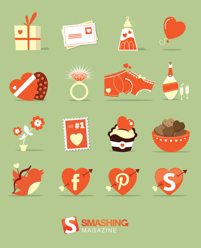 16 Lovely St Valentine S Day Icons For Free Smashing Magazine