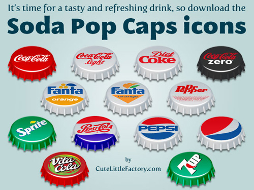 Free High Quality Icon Sets - Soda Pop Caps Icons