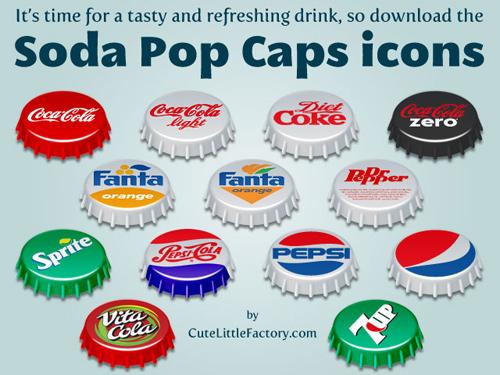Free High Quality Icon Sets - Soda Pop Caps Icons
