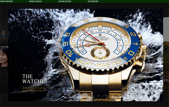 Screenshot, Rolex.com.
