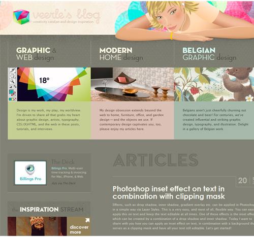 Subtle mouse effects on Veerle's blog