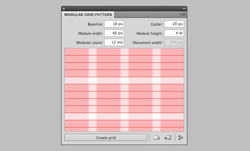 Modular Grid Pattern Extension