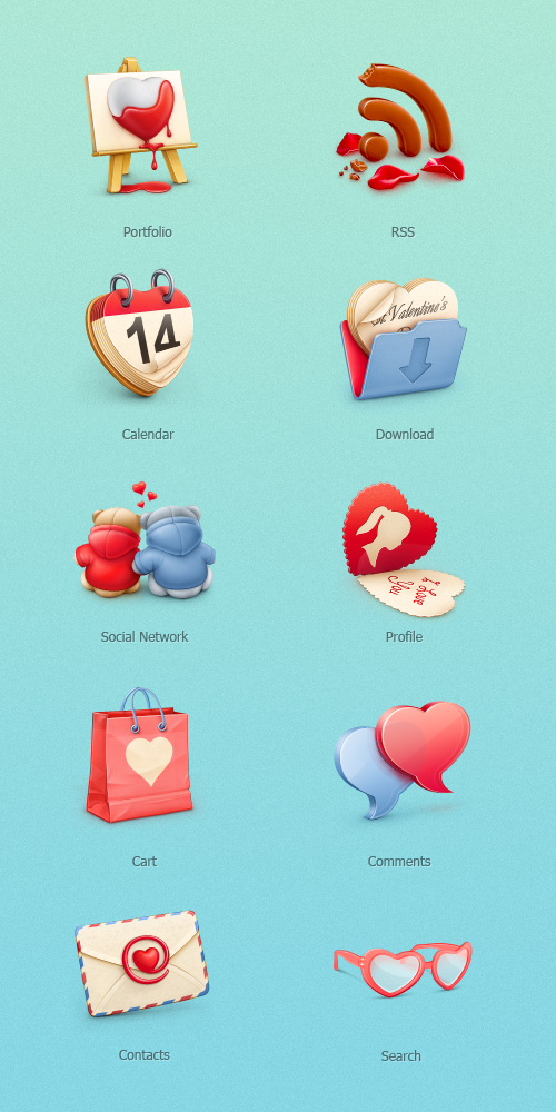 10 Free St Valentine S Day Icons Smashing Magazine