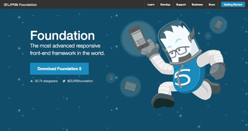 Foundation 5 home page