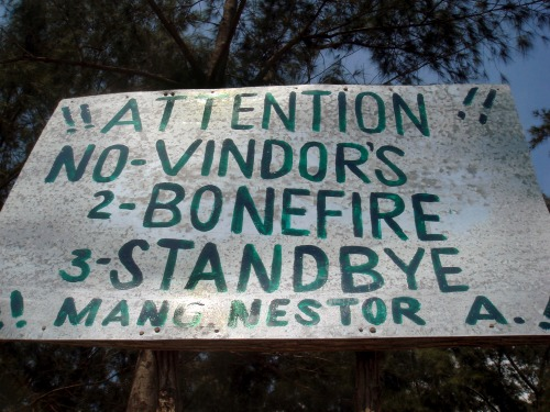Wayfinding and Typographic Signs - no-vindors-bonefire-standbye