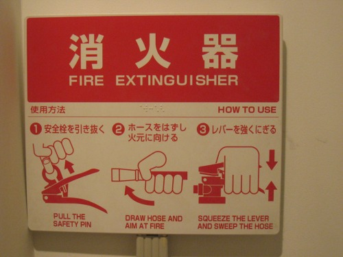Wayfinding and Typographic Signs - fire-extinguisher-operating-guide