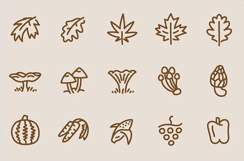 Quick preview of the Autumn icon set