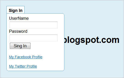 Twitter like Login with Jquery and CSS