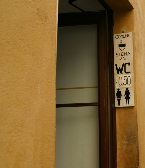 Wayfinding and Typographic Signs - siena-wc